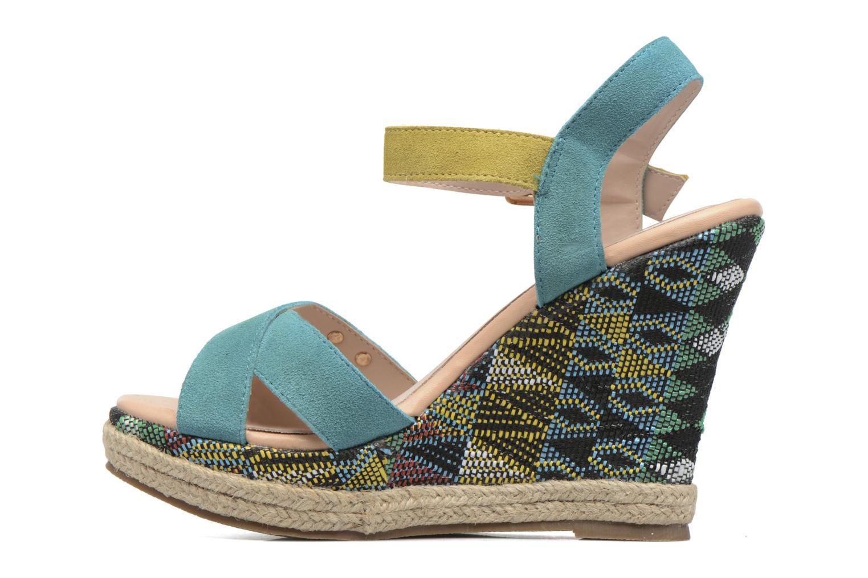 Sandales et nu-pieds Les Tropéziennes par M Belarbi Grease Bleu vue face