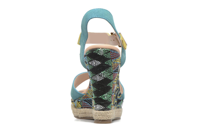 Sandales et nu-pieds Les Tropéziennes par M Belarbi Grease Bleu vue droite