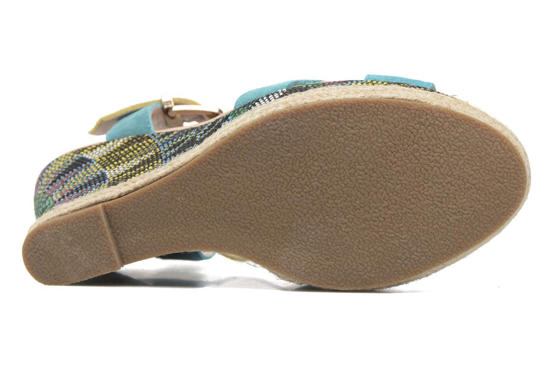 Sandales et nu-pieds Les Tropéziennes par M Belarbi Grease Bleu vue haut