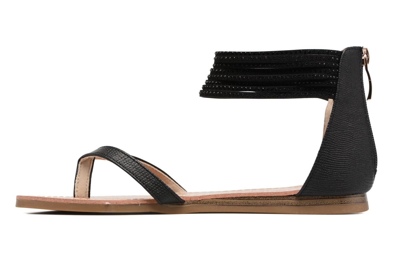Sandales et nu-pieds Les Tropéziennes par M Belarbi Ginkgo Noir vue face