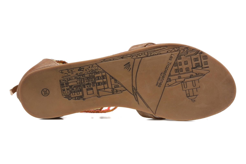 Sandales et nu-pieds Les Tropéziennes par M Belarbi Ginkgo Marron vue haut