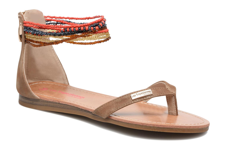 Sandales et nu-pieds Les Tropéziennes par M Belarbi Ginkgo Marron vue détail/paire