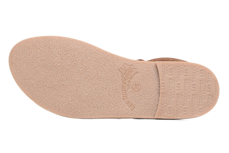 Sandales et nu-pieds Les Tropéziennes par M Belarbi Baden Marron vue haut