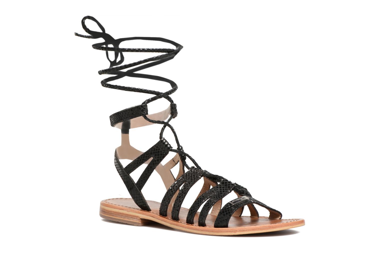 Sandaler Les Tropéziennes par M Belarbi Hercule Sort detaljeret billede af skoene