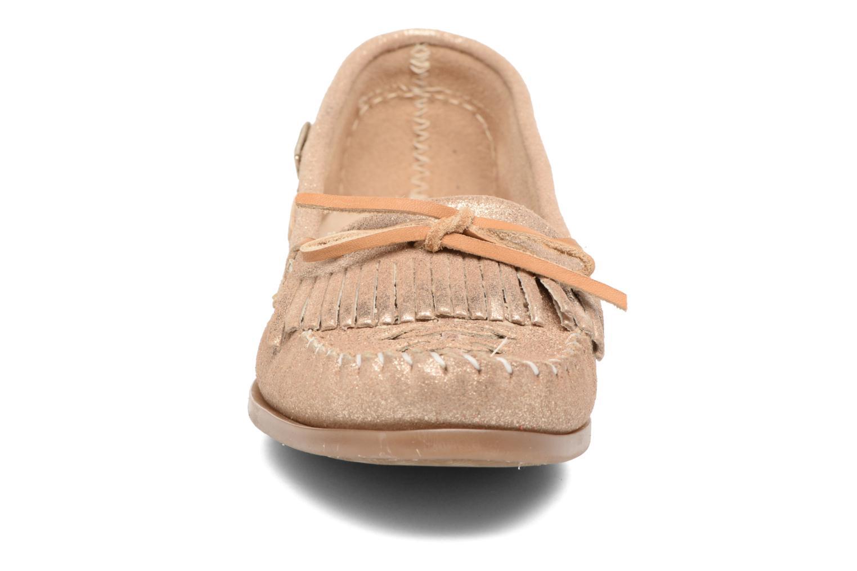 Mocassins Les Tropéziennes par M Belarbi Paraguay Or et bronze vue portées chaussures