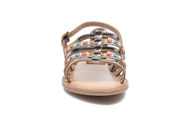 Sandali e scarpe aperte Les Tropéziennes par M Belarbi Mango Oro e bronzo modello indossato