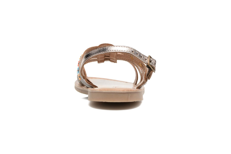 Sandali e scarpe aperte Les Tropéziennes par M Belarbi Mango Oro e bronzo immagine destra