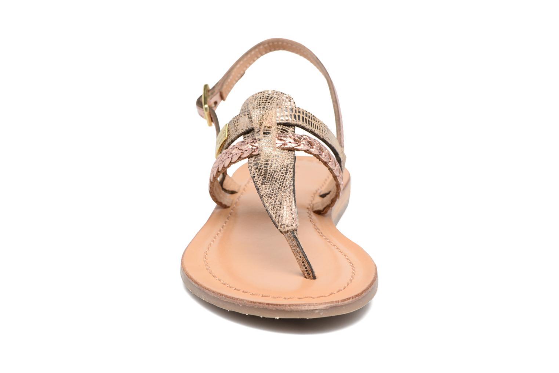 Sandales et nu-pieds Les Tropéziennes par M Belarbi Baraka E Or et bronze vue portées chaussures