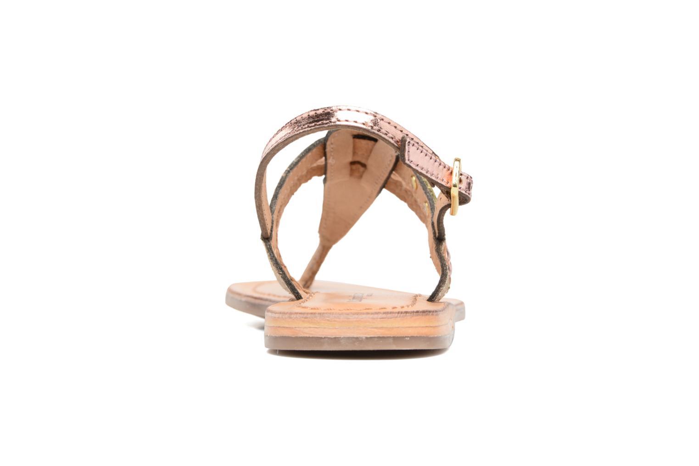 Sandales et nu-pieds Les Tropéziennes par M Belarbi Baraka E Or et bronze vue droite
