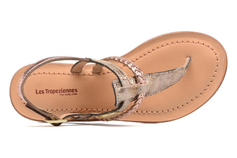 Sandales et nu-pieds Les Tropéziennes par M Belarbi Baraka E Or et bronze vue gauche