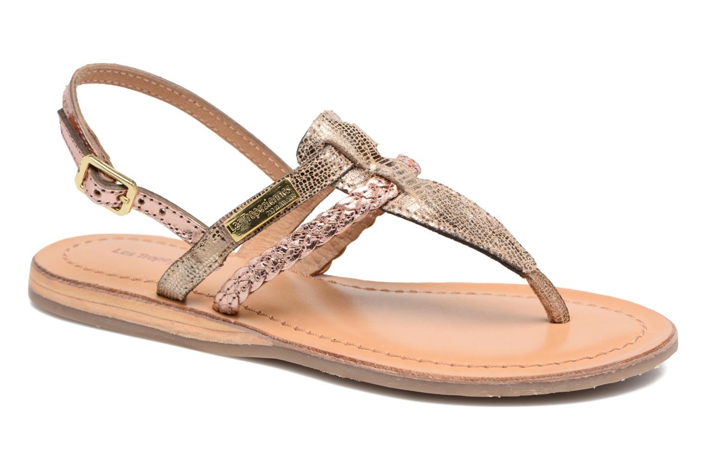 Sandales et nu-pieds Les Tropéziennes par M Belarbi Baraka E Or et bronze vue détail/paire