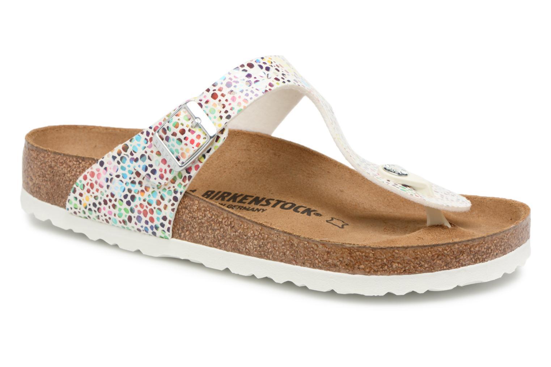 Los últimos zapatos de hombre y mujer Birkenstock Gizeh Microfibre W (Blanco) - Zuecos en Más cómodo