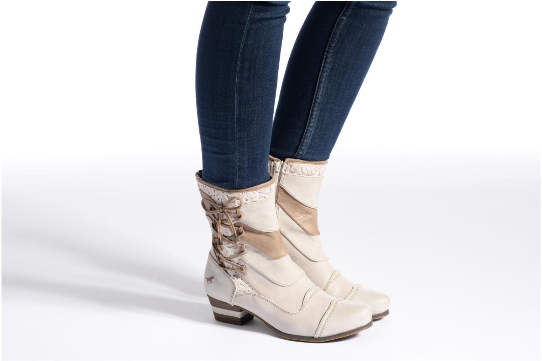 Bottines et boots Mustang shoes Amy Gris vue bas / vue portée sac