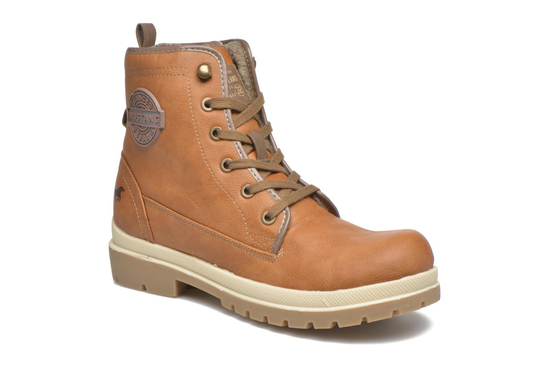 Bottines et boots Mustang shoes Marielle Marron vue détail/paire