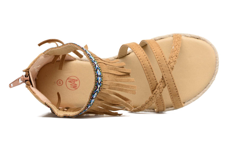 Sandales et nu-pieds NA! Rash Marron vue gauche