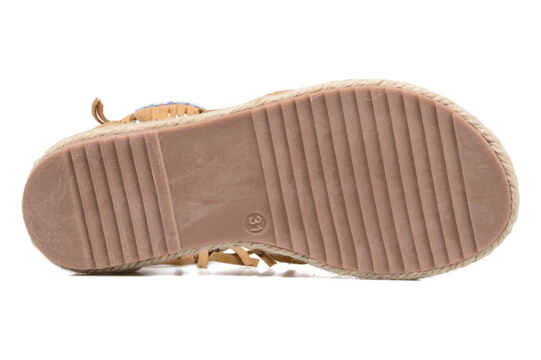 Sandales et nu-pieds NA! Rash Marron vue haut