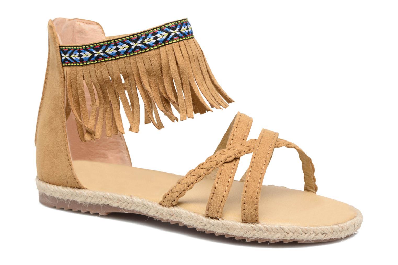 Sandales et nu-pieds NA! Rash Marron vue détail/paire