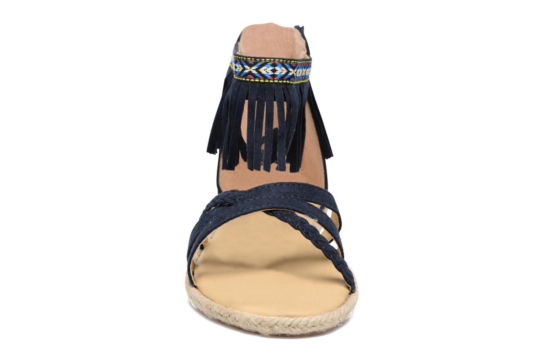 Sandales et nu-pieds NA! Rash Bleu vue portées chaussures