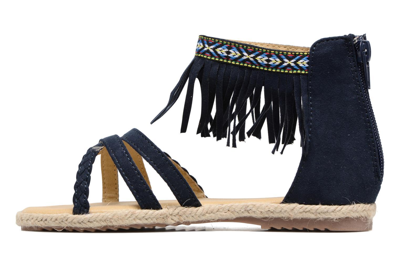 Sandales et nu-pieds NA! Rash Bleu vue face
