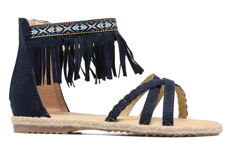 Sandales et nu-pieds NA! Rash Bleu vue derrière