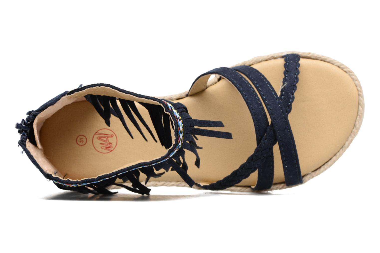 Sandales et nu-pieds NA! Rash Bleu vue gauche
