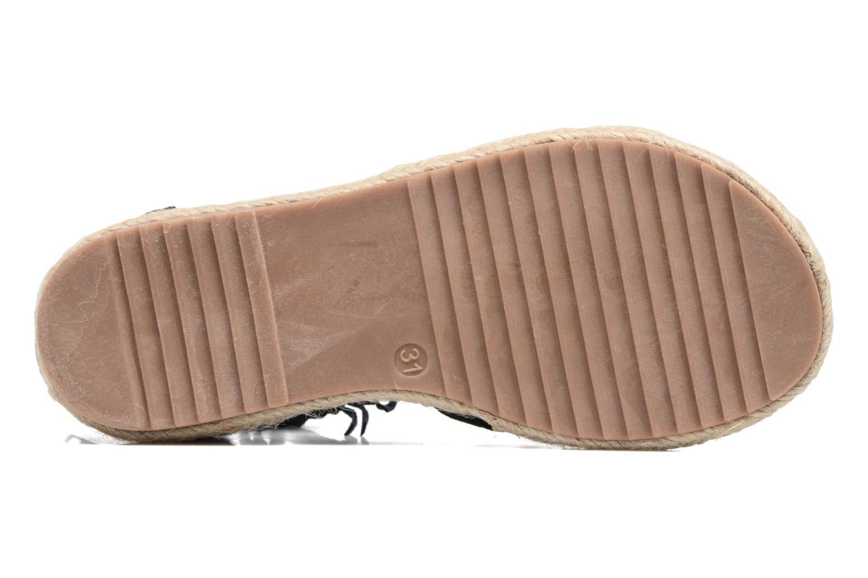 Sandales et nu-pieds NA! Rash Bleu vue haut