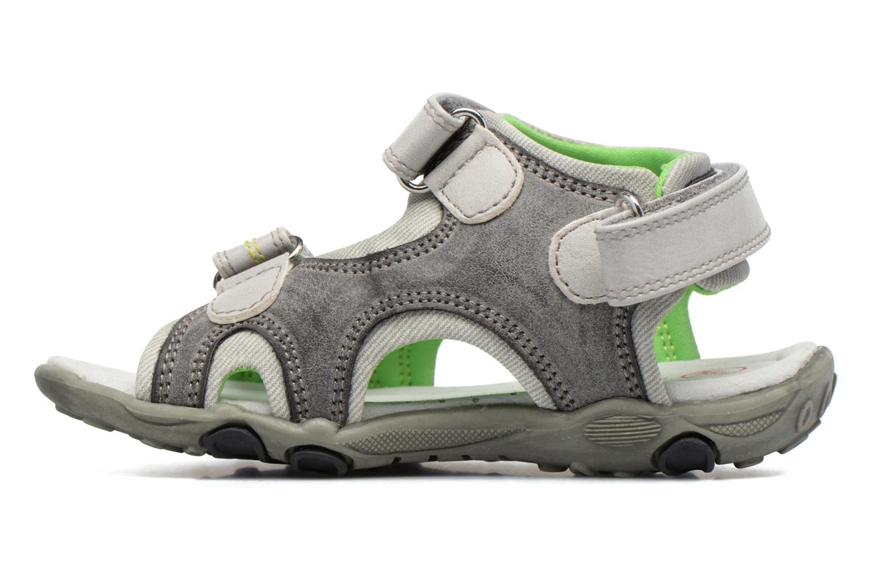 Sandales et nu-pieds NA! Air Gris vue face