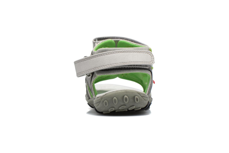 Sandales et nu-pieds NA! Air Gris vue droite