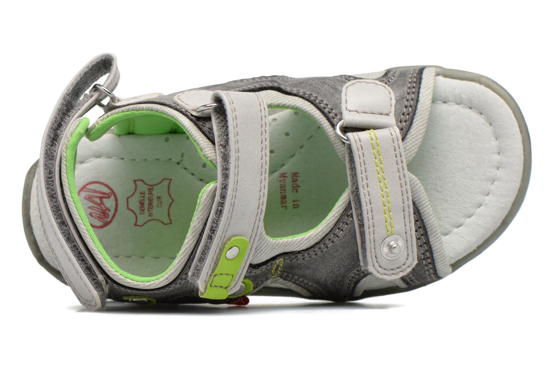 Sandales et nu-pieds NA! Air Gris vue gauche