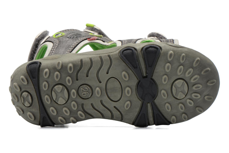 Sandales et nu-pieds NA! Air Gris vue haut