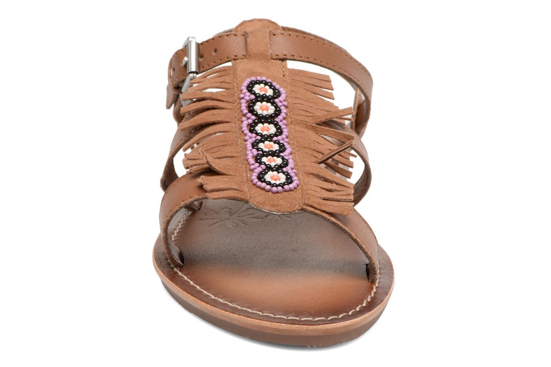 Sandales et nu-pieds Pepe jeans Maya Indian Marron vue portées chaussures