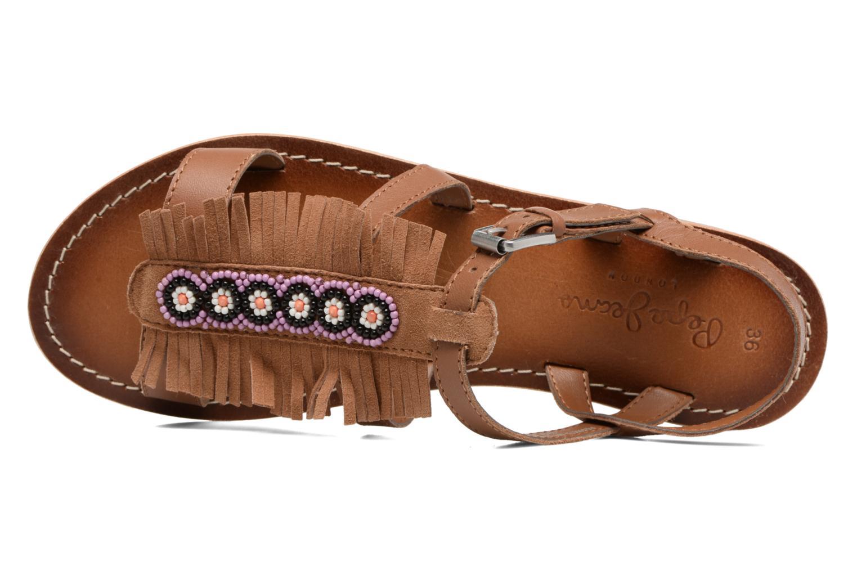 Sandales et nu-pieds Pepe jeans Maya Indian Marron vue gauche