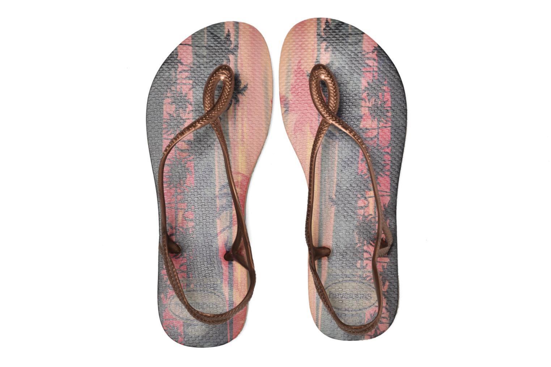 Sandales et nu-pieds Havaianas Luna Print Or et bronze vue 3/4