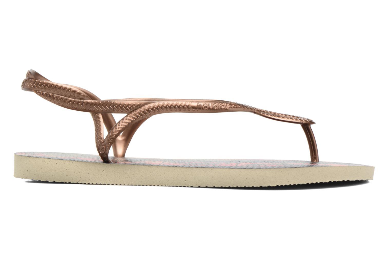 Sandales et nu-pieds Havaianas Luna Print Or et bronze vue derrière