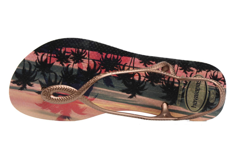 Sandales et nu-pieds Havaianas Luna Print Or et bronze vue gauche