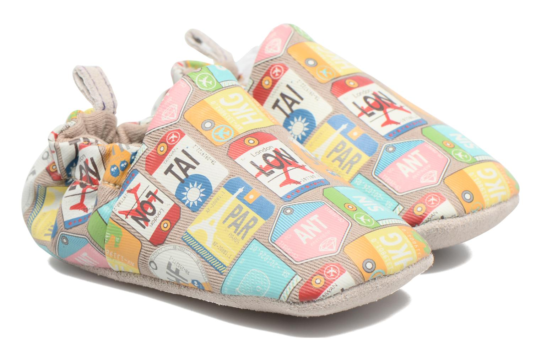 Chaussons Poco Nido Travel Beige vue portées chaussures