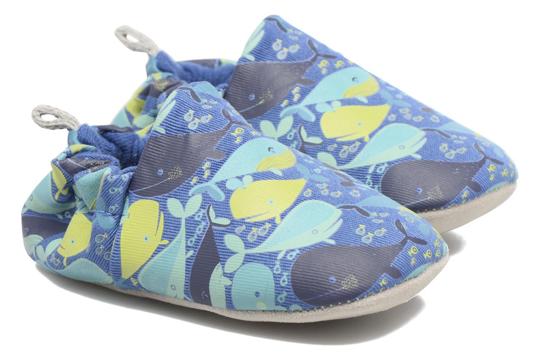 Chaussons Poco Nido Whales Bleu vue portées chaussures