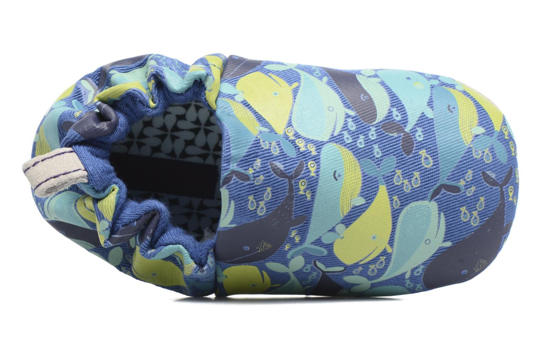 Chaussons Poco Nido Whales Bleu vue haut