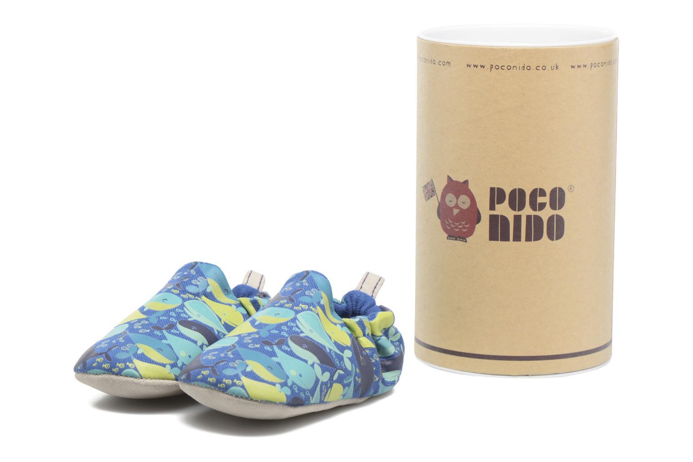 Chaussons Poco Nido Whales Bleu vue détail/paire