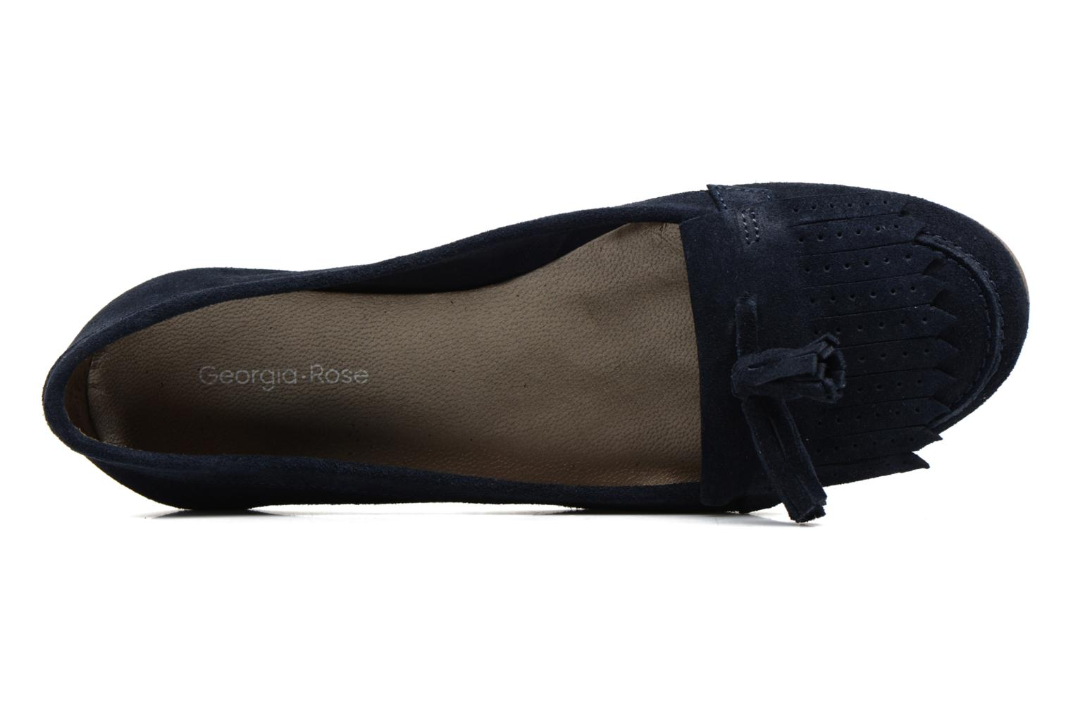 Loafers Georgia Rose Cepom Blue view from the left