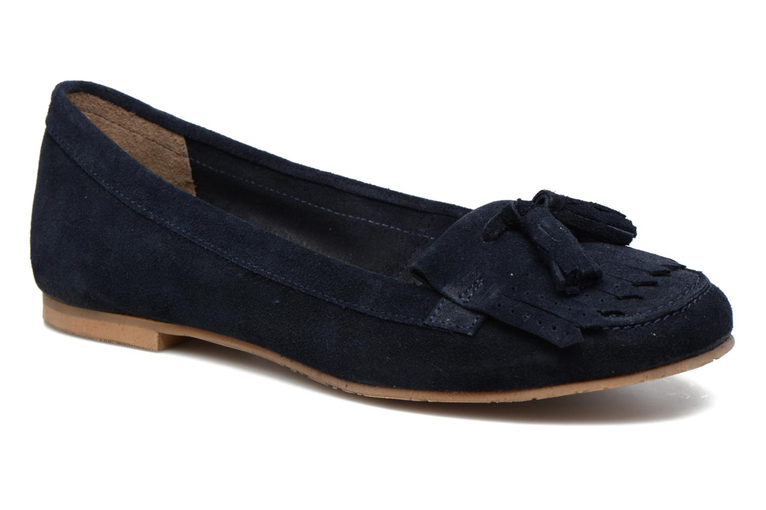 Loafers Georgia Rose Cepom Blue detailed view/ Pair view