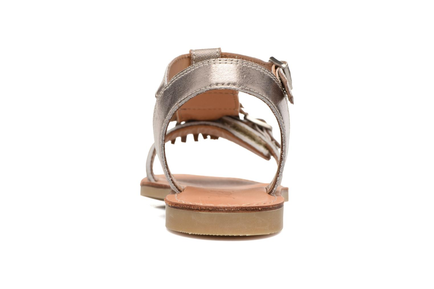 Sandals Shwik Lazar Bi Fringe Bronze and Gold view from the right