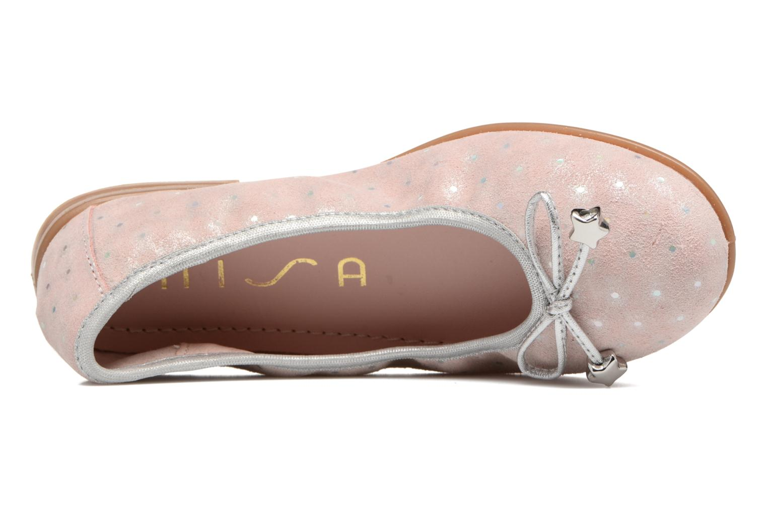 Ballet pumps Unisa Sasha Pink view from the left