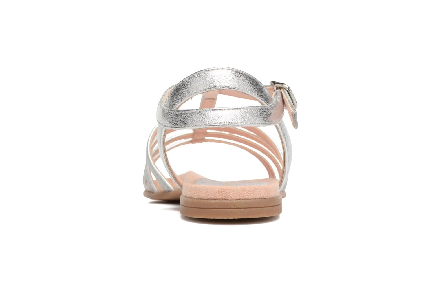 Sandals Unisa Lotre Silver view from the right
