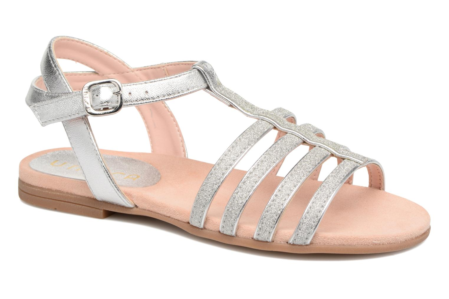 Sandals Unisa Lotre Silver detailed view/ Pair view