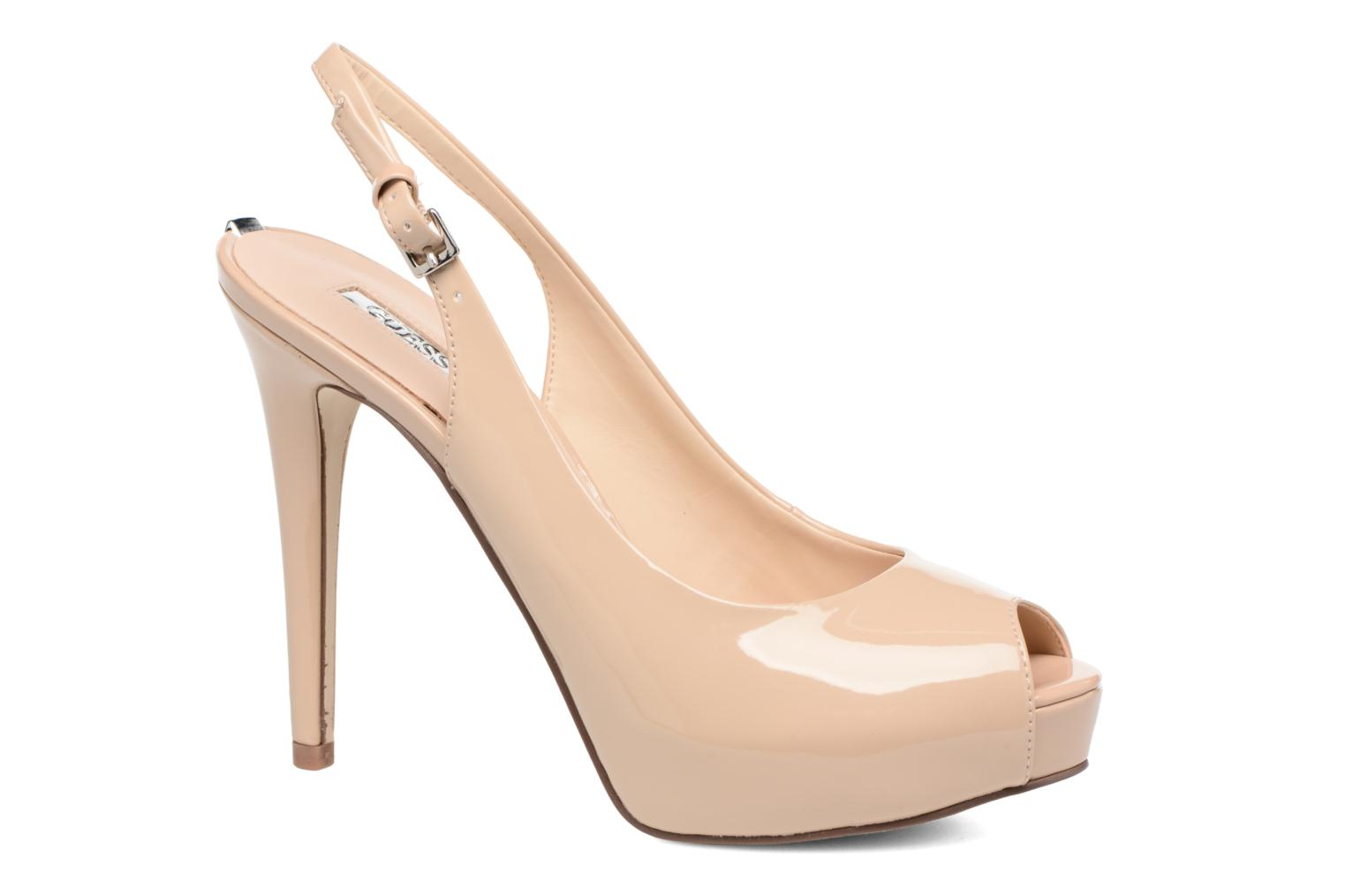 Marques Chaussure luxe femme Guess femme ELE 7 BEIGE PATENT