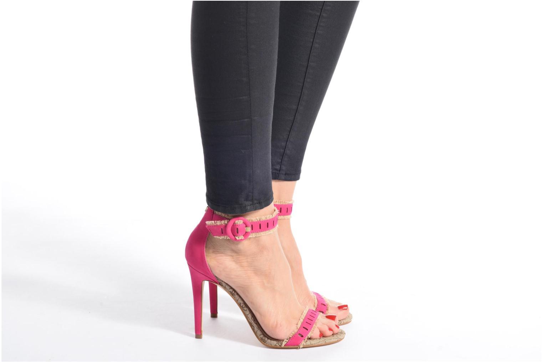 Sandales et nu-pieds Guess Petra Multicolore vue bas / vue portée sac