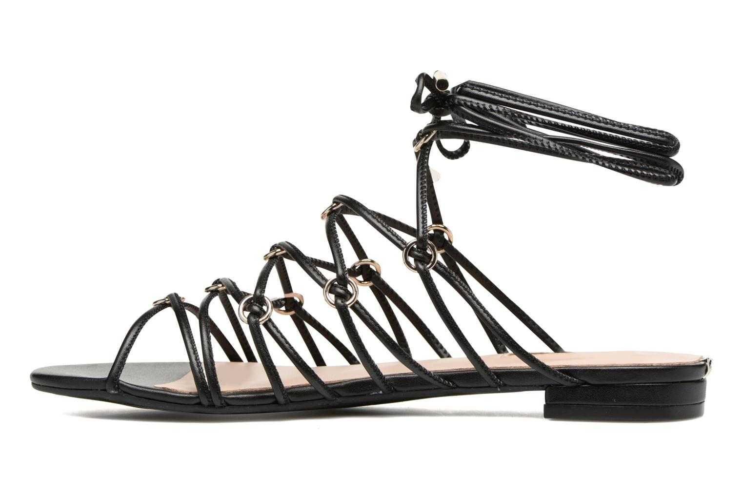 Sandals Guess Racha Black front view