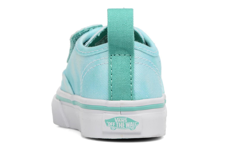 Baskets Vans Authentic V Lace BB Bleu vue droite