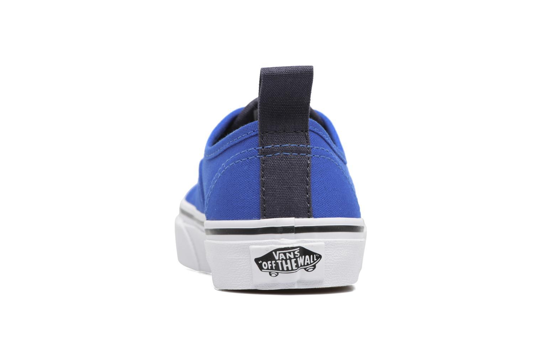 Baskets Vans Authentic Elastic Lace Bleu vue droite